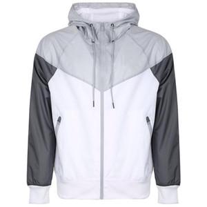 2020 diseñador para hombre de las chaquetas rompevientos Deportes Marca remiendo Coats Imprimir cremallera sudaderas Running Wear Outwear al aire libre 20030602CE