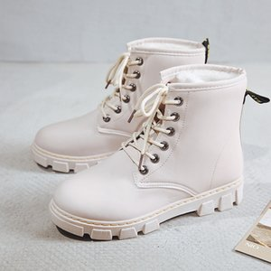 New PU Leather Women White Ankle Boots Motorcycle Boots Female Autumn Winter Shoes Woman Punk Motorcycle Boots Botas Mujer
