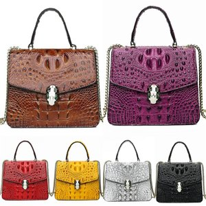 New Spades Bags Women Brand Designer Leather Chain Crocodile Shoulder Bag Totes For Ladies Totes Geometric New York Bag Online#973