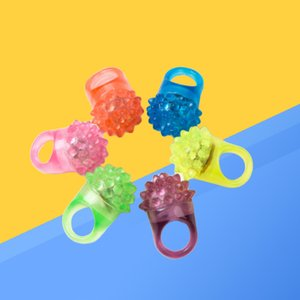 6Color Mix Led Flashing Jelly Ring Party Bar Blinking Soft Glow Light UP Party Favor Christams Gifts