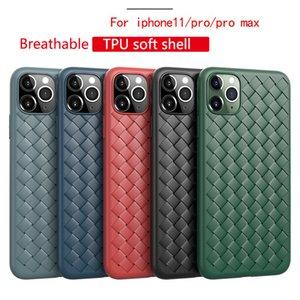 Caso de moda de silicona TPU Red Tejiendo Fundas para iPhone 11 Caja del teléfono de Pro Max trenzado para iPhone 6 7 8 6s XS Plus X Max Tapa blanda