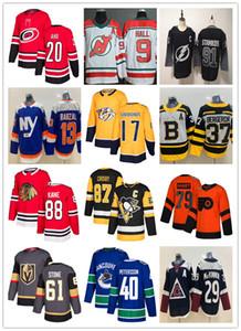 2019 Maglie da hockey a buon mercato Maple Leafs Blackhawks Golden Knig Canucks Bules Flames Gaudreau Elias Pettersson Mark Stone Steven Stamkos Crosby