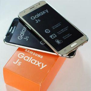 """Quad núcleo original para Samsung Galaxy J5 J500F J5008 1,5 GB de RAM 16 GB de ROM 5.0 """"3G WCDMA teléfono reformado con accesorios de la caja sellada"""