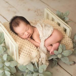 Recién nacido Apoyos para la fotografía de madera desmontable cama de bebé Fotografía Antecedentes Accesorios Flokati recién nacidos Studio Utiles CJ191213 Shoot