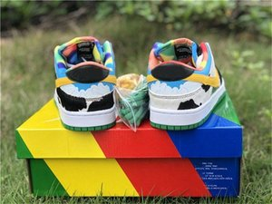 2020 Hot Authentic Ben &Jerry &#039 ;S X Sb Dunk Low Pro Qs Chunky Dunky Casual Shoes Men Lagoon Pulse University Gold Cu3244 -100 Sneaker