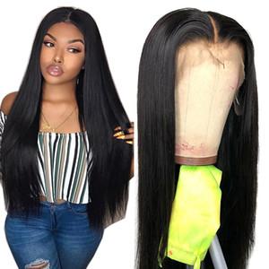 Malaisie perruque 13 * 4 droite dentelle frontale perruque avant de dentelle perruques de cheveux humains pré-plumé avec bébé cheveux BEAUDIVA non Remy Lace Wig