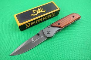 Oferta especial Browning 338 332 plegable de bolsillo cuchillo que acampa al aire libre senderismo Pequeño cuchillos plegables cuchillo con el paquete de la caja original en papel