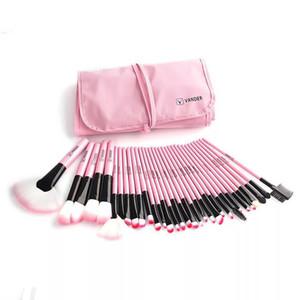 Set di pennelli per trucco professionale a caldo 32 pezzi / set pennelli per trucco Eyeliner per sopracciglia Strumenti per la polvere Kit da toilette Pinceaux Maquillage nero