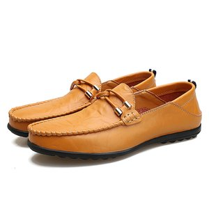Хорошее качество Мужская натуральная кожа Luxury Designer замша бездельник официальные туфли нежные мужские платья прогулочная обувь повседневная комфортная обувь дыхания