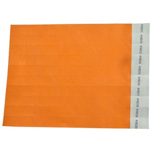 50 Pieces Solid NEW Color 3 4 inch Tyvek Wristbands with Series Numbers, Tyvek Paper ID Wristbands for Party Events