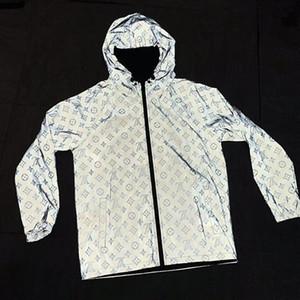 19LL الخريف الرجال 3D مصمم معطف سترة رياضية العلامة التجارية البلوز مع هوديس فاخر كم طويل زيبر سترة واقية ملابس رجالي القمم