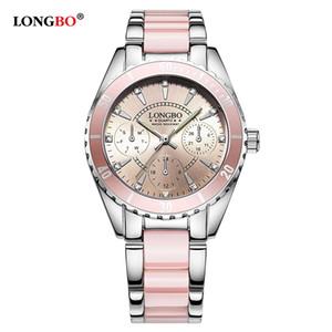 Longbo Marka Kadınlar İzle Bayanlar Kuvars Saatler Bayan Kol Saati Relogio Feminino Montre Relogio Feminino Mujer 80303 Y19062402