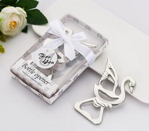 (20 piezas / lote) Recuerdos de boda de Little Swan Design Bottle Favor de Favors para el favor de la fiesta de la fiesta y las decoraciones de la boda