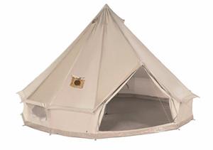 Haute qualité imperméable Mildiou épreuve Tente en toile de Bell avec deux Jackets Poêle (haut et mur) toutes saisons Tentes avec cheminée supérieure