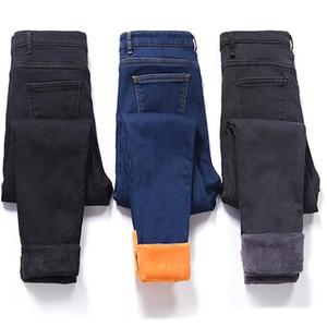 Hiver Jeans Épais Velours Chaud Femmes Denim Pantalon Élastique Taille Haute Slim Plus La Taille Pantalon Pantalon Femme Jeans Maigre Femme Y190502