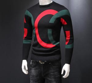 Последние международные высокого класса Мужские свитера красивый мягкий теплый письмо куртка рубашка мода спортивная толстовка пальто большой размер M-4XL
