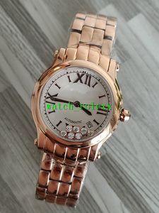 Top NR Happy Sport 33mm 274808 oro Rose Ladies Watch ETA2892 automatico 28800vph Pearl Diamond Dial Womens cellulare quarzo Orologi Hot