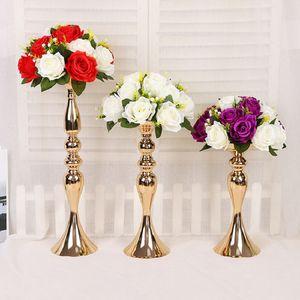 3 حجم حاملي الذهب شمعة لحضور حفل زفاف الدعائم الديكور حورية البحر الصغيرة مطلي الحديد التركيبات إناء الزهور على النمط الأوروبي