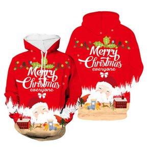 Mens Designer con cappuccio cappotti Mens maglione 3D digitale di Natale di stampa della gioventù di tendenza di modo casuale maglione del pullover 2020 New Winter all'ingrosso