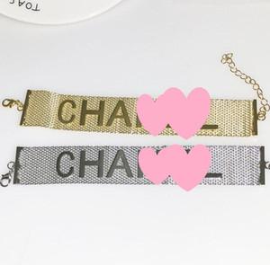 Kadınlar Için 2019 Sıcak Satış Mektubu Bilezikler Moda Basit Hollow Out Charm Bilezikler Düğün Takı Hediyeler Ücretsiz Kargo