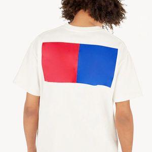 19ss Monogram Harf Geometrik Baskılı Moda Tişört Yaz Nefes Tee Casual Basit Erkekler Kadınlar Sokak Kısa Kollu SizeS-XXL