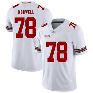 Adolphus Washington Dikişli Gençlik Ohio State Buckeyes Andrew Norwell Beyaz Siyah Kırmızı Çocuklar NCAA Kolej Jersey