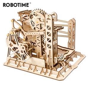 Robotime DIY 리프트 Coaster 마법의 창조적인 대리석 게임을 실행 나무로 되는 모델의 건물이 어셈블리 키트는 장난감 선물을 위한 성인 어린이 LG503Y200413
