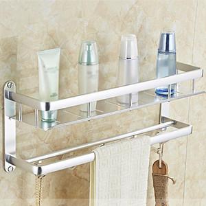Badezimmer Organizer Regal Wand befestigte Shampoo Körperpflege Storage Rack Nicht Lochen Halter für Home Küche Bad-Accessoires