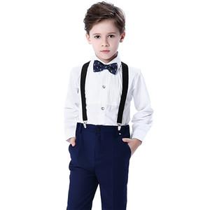 Summer Handsome 4 Pieces Boy's Formal Wear Suit Kids Wedding Kids Designer Clothes Boys For Party Prom