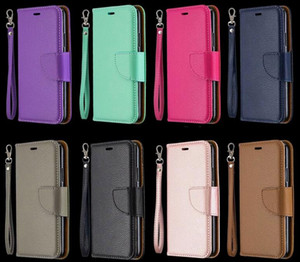 Leechee Porte-monnaie en cuir pour Samsung A31 A01 A21 A20 A30 A40 A50 A70 A10 M10 M20 M30 Litchi Porte-carte ID fente magnétique Téléphone Flip Cover
