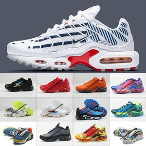 Vender Hot New Original 2020 Tn Shoes New Designs Moda Men respirável malha Tn Mais de Chaussures Requin Esportes Formadores Shoes