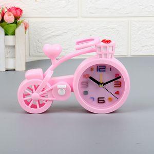 Creativo modello della bicicletta sveglia regalo bambini Comodino Mini Bike Model Craft creativa sveglia decorazione domestica sveglia BH2373 TQQ