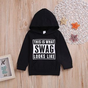 Children Kids Boys Girls Long Sleeves Letter Hooded Sweatshirt Top Clothes fashion Baby clothes Costume pour enfants