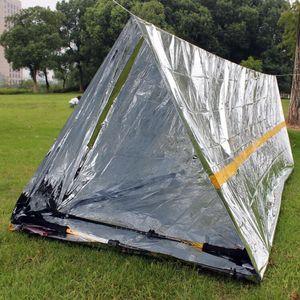 Wasserdichtes Sliver Mylar Thermal Überleben Shelter Notunterkunft für Camping Zelt Sporting Outdoor-Notfallzentrum 240 * 160cm LXL961-1