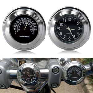 Universal étanche 7/8 « » moto vélo support de guidon Horloge avec thermomètre Temp Motocycle