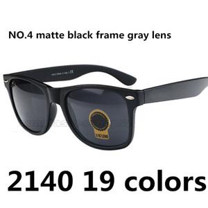 Traveller Klassische Unisex-Sonnenbrille Hellschwarz Mattschwarzer Rahmen Reine schwarze Linse 2140 Unpolarisierte eckige Sonnenbrille