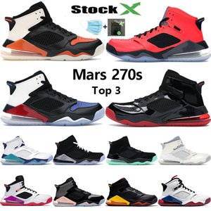 Top 3 Mars 270S chaussures de basket-ball Jumpman hommes brisé Backbord PSG INFRAROUGE 23 raisin or noir agrumes sneakers femmes concepteur américain de 5,5 à 13