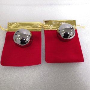50 mm de diámetro sólido o 60mm bola de hierro de la mano Masaje Exersice bola de acero del alivio de tensión de la salud de la aptitud bolas de masaje Baoding