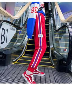 2020 Fashion Womens Luxury Jogger Pants New Branded Drawstring Sports Pants High Fashion 3 Colors Side Stripe Designer Joggers