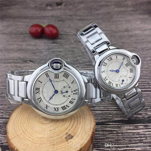 Alta qualidade famosa marca amantes relógio de pulso relógio de luxo moda aço inoxidável à prova d 'água Roman dial amante do melhor presente