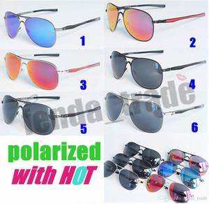 NEUE ANKUNFT 6 farben Aluminium Polarisierte Sonnenbrille Männer Klassische Markendesigner fahren Brillen Pilot sonnenbrille Fabrik Preis HEIßER 5 stücke