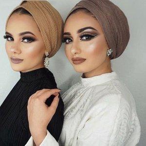 1 PC de la burbuja mujeres arruga hijab bufanda femme musulman pañuelo de algodón suave chales hijab islámico y abrigos de la bufanda llana