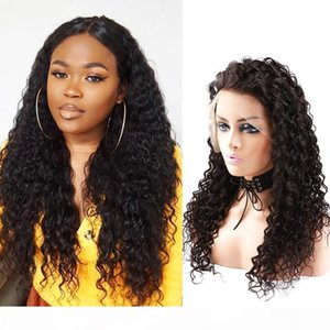 8A Mongolian Virgin Lace Front Wigs Curly Human Hair Lace Wigs with Baby Hair 130% Density Medium Brown Lace Medium Cap Bellahair