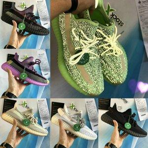 New Yecheil yeehu Cloud White Black Static 3M Reflective men women running Shoes gid glow zebra Clay hyperspace Kanye West Sports Sneakers09