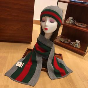 Classic signore di modo sciarpa cappello set di alta qualità per la preparazione di pura lana gli uomini e le donne inverno sciarpa cappello con box