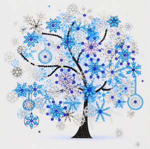 Four Seasons Tree of Life DIY 5D Special Shaped Diamond Painting Partial Paste Cross Stitch Kits Crystal No frame