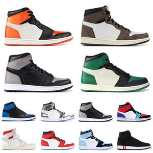 air jordan retro 1 Atacado OG 1s Shoes Mulheres basquete UNC Travis Scotts Homens Sneakers cetim Banido Trainers Designer Fantasma Destemido Mens Sports Sapatilhas