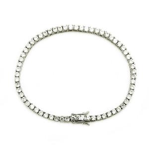 Creative Fashion Mens Copper Inlaid Zircon Tennis Bracelet Hip Hop Simple Bracelet Tennis Bracelet