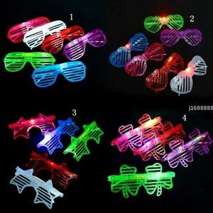 Light LED Glasses Shutter Star Heart Shaped Bright Light Party Glasses Club Bar Performance Glow Party DJ Dance Eyeglasses
