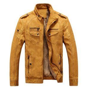 Jacket Winter Thick Fashion Male Coats Mens Leather Designer